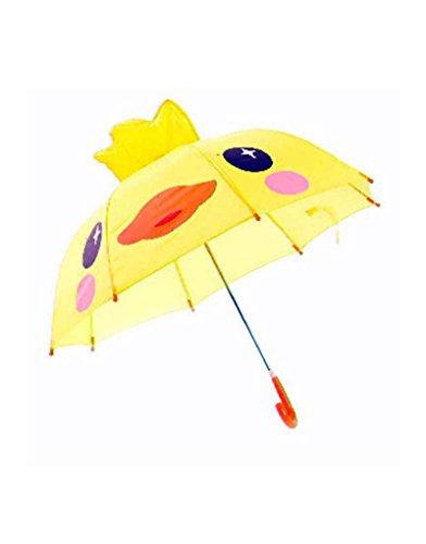 Paraguas amarillo infantil con pollito
