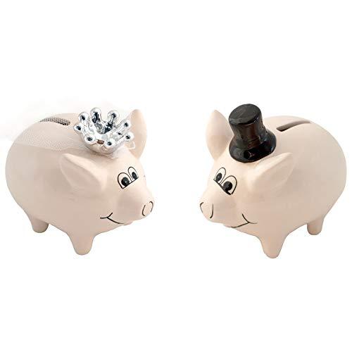 Annastore Sparschwein Brautpaar 2-tlg. Set - Sparschweine Braut und Bräutigam