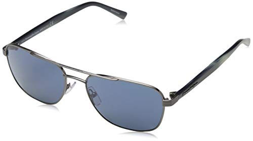 Ermenegildo zegna sonnenbrille ez0068 occhiali da sole, argento (silber), 57.0 uomo