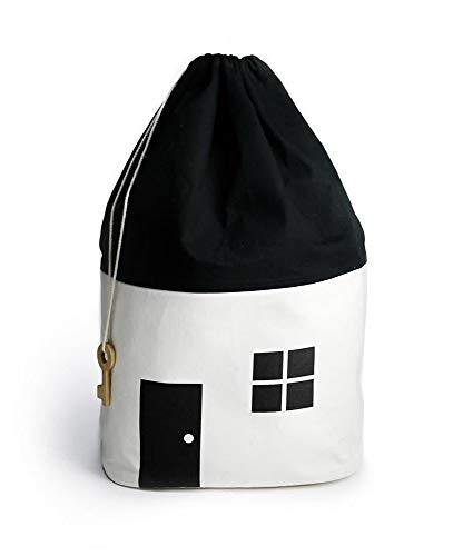 Aufbewahrungssack Tasche Sack Korb Wäschekorb Kinderzimmer Kinder Wohnzimmer Bad Badezimmer Eimer Spielzeug (Weiß)