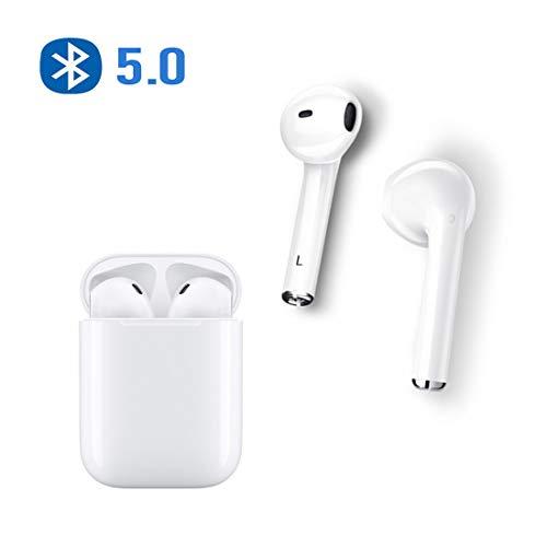 AIJEESI Écouteurs Bluetooth TWS 5.0 Oreillette Bluetooth sans Fil Intra-auriculaire avec Microphone et boîtier de Chargement, Compatible pour iphone Samsung Huawei et Autres appareils Android