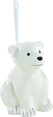 Sanwood 1141126 Zoo WC-Bürstengarnitur Eisbär aus Keramik