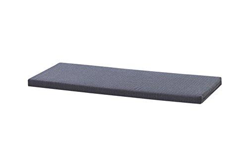 INWONA IKEA Kallax Regal Sitzauflage 111 x 39 x 4 cm Sitzpolster Sitzbank-Auflage Sitzkissen/Auflage für Sideboard als Sitzbank/unempfindlicher Bezug/Farbe GRAU ANTHRAZIT -