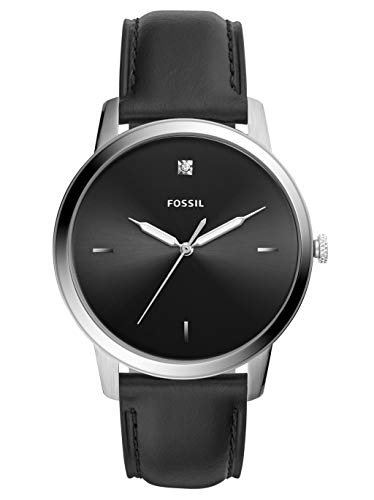Fossil Herren Analog Quarz Uhr mit Leder Armband FS5497