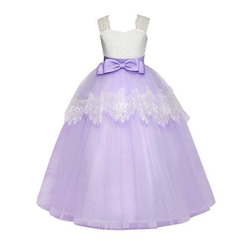 Xinvivion Mädchen Prinzessin Kleider - Klavier Performance Prom Geschwollene Kleid Mädel Hochzeit Mesh Kleid Geburtstag Tüll-Tutu-Outfits (Geschwollene Kleider Prinzessin)