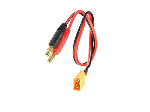 Preisvergleich Produktbild Ladekabel XT60 auf 4mm Goldkontakt Bananenstecker 3.5MM