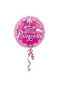 "Amscan International-3455801""Princesa corona y Gem feliz cumpleaños"" estándar Foil Balloon"