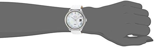 GV2 by Gevril Asti Womens with Diamonds Swiss Quartz White Leather Strap Watch, (Model: 1800)