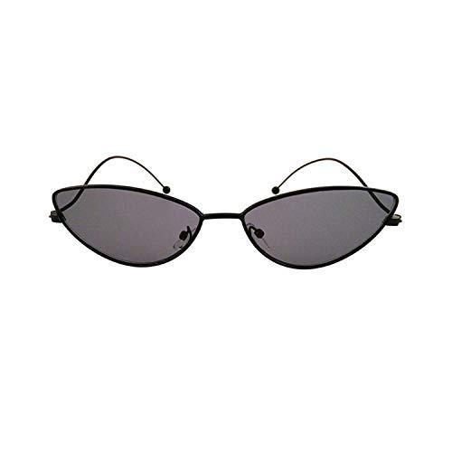 Sport-Sonnenbrillen, Vintage Sonnenbrillen, NEW Cat Eye Sunglasses Men Women Fashion Brand Designer Metal Frame Sexy Vintage Sun Glasses Oculos De Sol UV400 Black