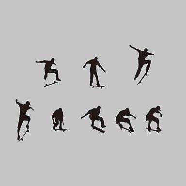 XI.W.H Moderne Kreative neue Design Skateboard Boy Vinyl Kinder Wall Sticker für das Badezimmer Wohnzimmer (Skateboard Boy Wand)