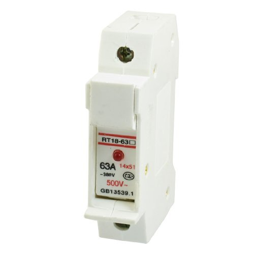 RT18-63 AC 380V / 500V 63A 14x51mm Rund Single Pole Sicherungshalter Basis w LED-Licht