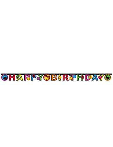 amscan - 552432 - Guirlande Happy Birthday Smiley Express - 180 x 15 cm