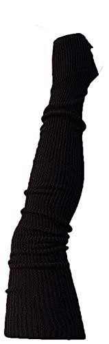 AVIDESO Overknee Stulpen für Damen oder Mädchen extralang - Ballettstulpen mit Fersenloch - sehr Flauschige Beinlinge (schwarz)