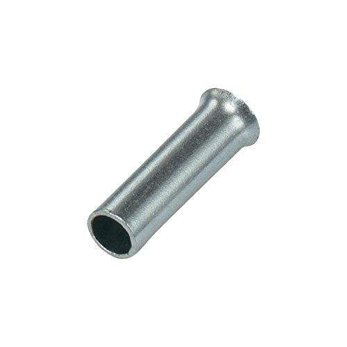 Vogt Verbindungstechnik 440108.47 Aderendhülse 1 x 0.50mm² x 8mm Unisoliert Metall 100St.