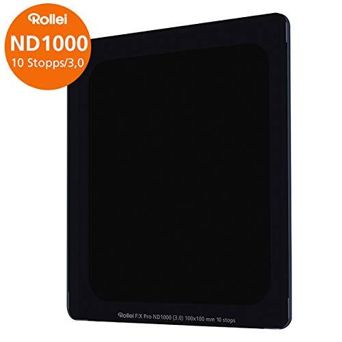 Rollei Filter F:X Pro ND 1000 Filter | Graufilter 100mm aus Gorilla-Glas mit Luminance Coating | Ideal für Langzeitbelichtungen am Tag