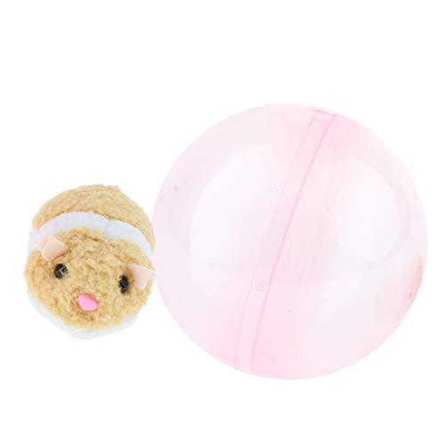FLAMEER Laufender Hamster Rolling Ball, Kinder elektronisches Haustier Spielzeug, Plüsch interaktives Schiebe Hamster Baby Tier Spielzeug