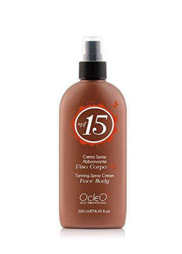 La meilleure crème spray abbronzante Protection SPF 15 visage corps Tanning Cream face body 250 ml