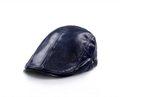 verstellbar Damen Herren Leder flach Gap Cabbie Hut Gatsby Ivy Caps Irish Jagd Mützen, Schiebermütze, Golf Hat, Berets Hat -
