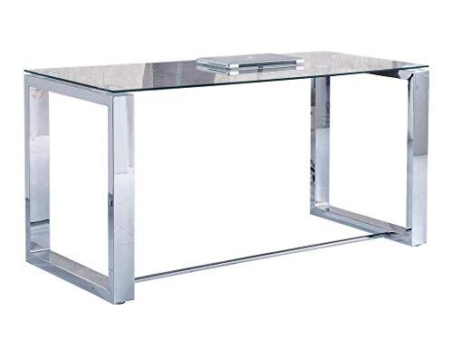 Due-Home 2454140031 - Mesa de Escritorio Office - Color - Metal Cromado