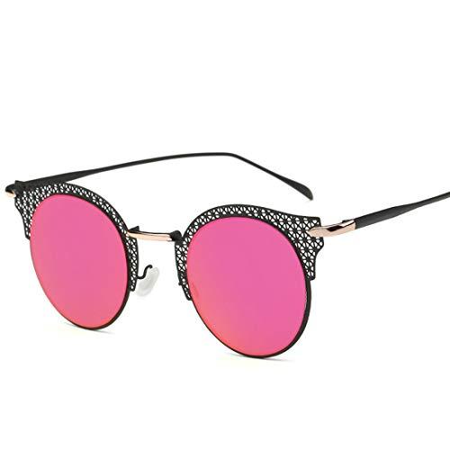 Polarisierte Sonnenbrille mit UV-Schutz Runde Retro Cat-eyed Frauensonnenbrille-Mascheneinstellung-Metallrahmen-Antrieb mit Sonnenbrille, zum der UV-Sonnenbrille zu verhindern. Superleichtes Rahmen-Fi