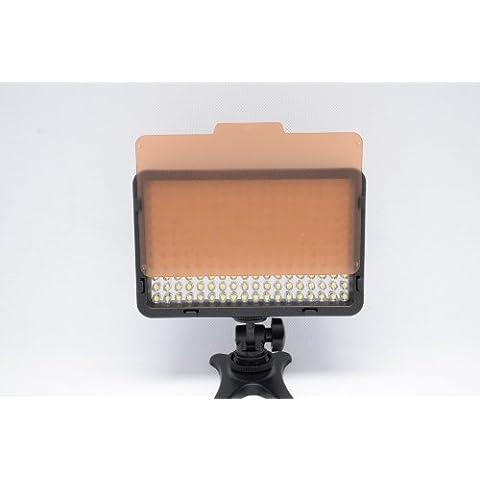 Kaavie - Illuminatore Luce LED 130 - LED video light - Faretto LED per fotocamere reflex digitali e videocamere Canon - Nikon - Olympus - Sony - Panasonic - Pentax