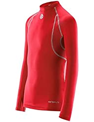 Skins - Carbonyte Top L/s Round Neck, color rojo , talla XL