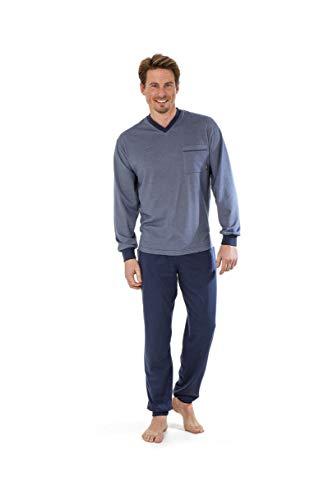 hajo Langer Pyjama \'Klima-Light\' in Denim Übergröße 5XL, Größe:4XL