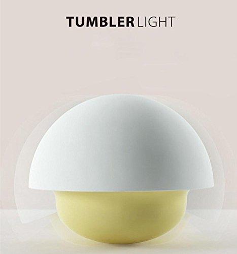 DENG Tumbler Night Light Champiñón Electric Touch Touch Inducción LED de Ahorro...