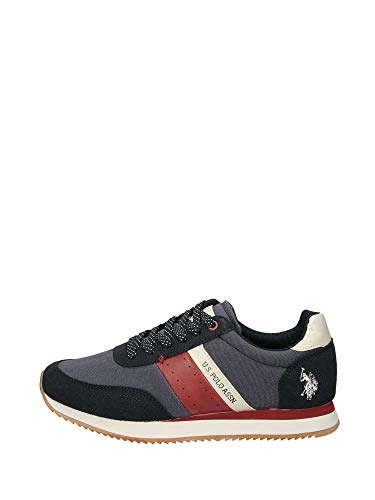 US Polo Assn NOBIL4135S9/TH1 TIBERY Sneakers Scarpe Uomo Sportive Lacci Navy Blu (45 EU)