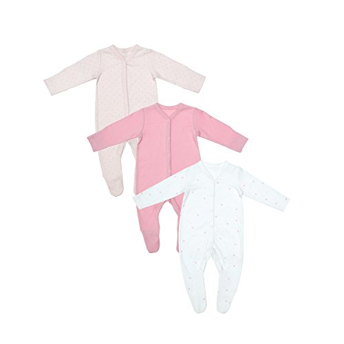 Mothercare Mothercare Baby-Mädchen Schlafstrampler Pink Sleepsuits - 3 Pack Multicolour (Lights Multi) 56