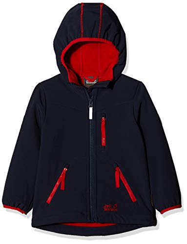 Jack Wolfskin Jungen Whirlwind Jacket Boys Softshelljacke, Night Blue, 140