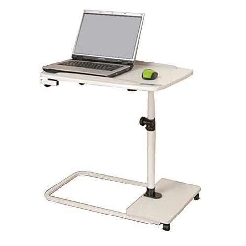 Axdwfd Table pour ordinateur portable amovible, rotation à 360 °, table de chevet 65 * 45 * 86cm (blanc)