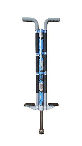 ThinkGizmos Bâton Sauteur pour Les utilisateurs de 36kg à 72 kg - Le bâton Sauteur de Aero Legend pour Les Enfants (&Les Adultes légers) - Une Construction Solide de qualité (Bleu & Noir)