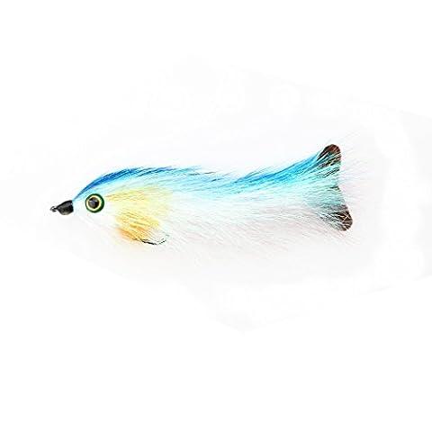 A-szcxtop Aspect mouches Leurres de pêche réaliste avec yeux 3d, wet mouches Pêche appâts avec des basses puissantes Crochets, Saumon Trouts Pêche à la mouche mouches 9cm
