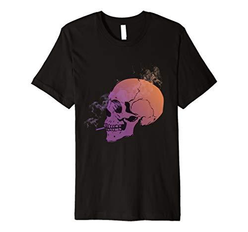(Smoking Skull Tshirt für Halloween)