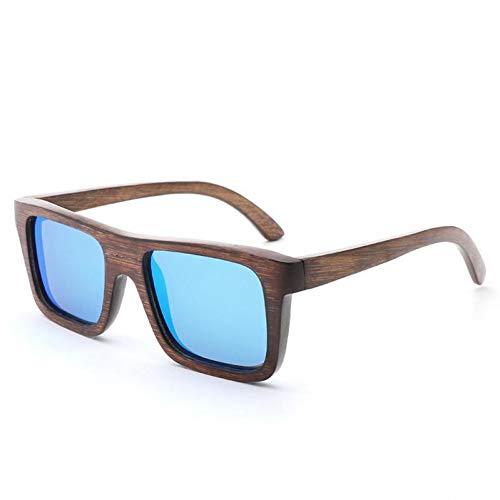 TIANZly Umweltfreundliche handgefertigte Bambus- und Holzbrille für kleine Kinder mit braunem Rahmen und flachem Schlitzrahmen