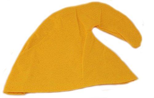 Zwergenmütze in gelb für Erwachsene - Zwergen Hut Mütze Zwergenkostüm