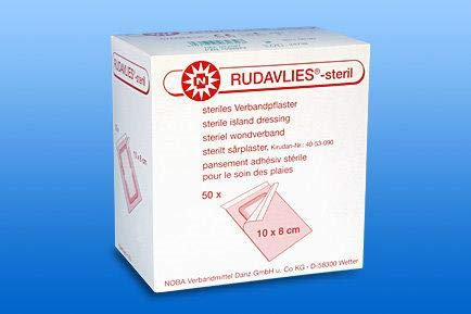 Rudavlies Steril - steriles Pflaster zur Wundversorgung 10 cm x 8 cm (50 Stück)