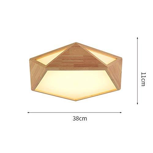 ZXL Mount Nordic Creativity l Deckenleuchte Led Kleine Wohnzimmerlampe Japanisches Schlafzimmer/Arbeitszimmer Lampe enthalten (Farbe: Warmweiß-A - Klein - 38cm * 11cm) - Kleine Decke Mount Licht