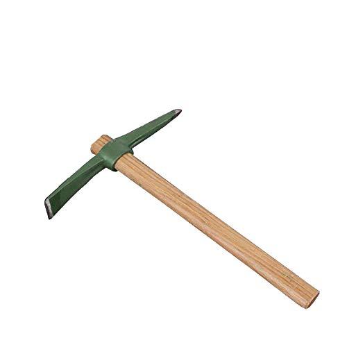 Sungpunet Kleine Artischocke mit Holzgriff Kreuzhacke Kleiner Schaufel Spitzhacke Landwirtschaft Werkzeug Dual-Purpose Sand-Drehstahl Hoe Medium 1 Pc