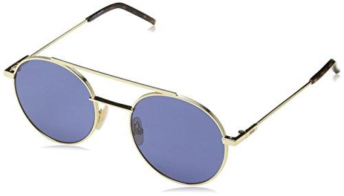Fendi Herren FF 0221/S KU 000 Sonnenbrille, Rose Gold/Blue Avio, 52