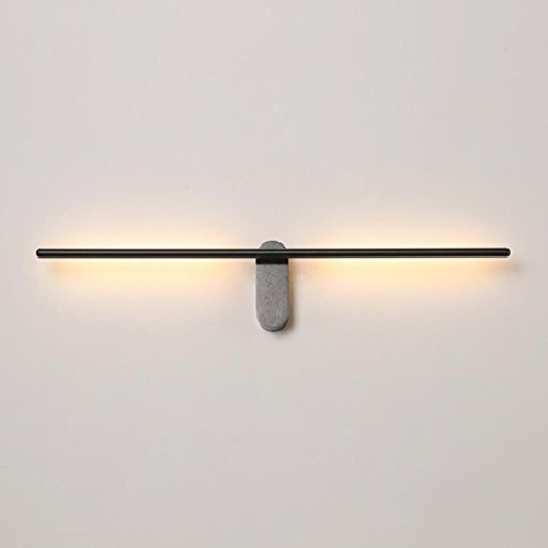 SADWF Nordic minimalistischen postmodernen Kunst Kronleuchter minimalistischen Design LED Aluminium Wandleuchte Schlafzimmer Veranda Korridor Gang Lampen, kann drehen, Größe 71,5 * 13,5 cm -