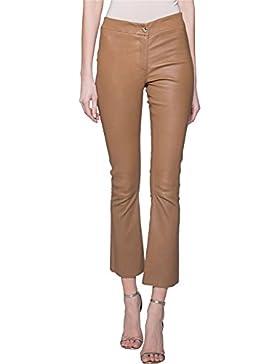 Arma Pantalones de piel Cognac Modelo Lively Talla 36Deutsche tamaño