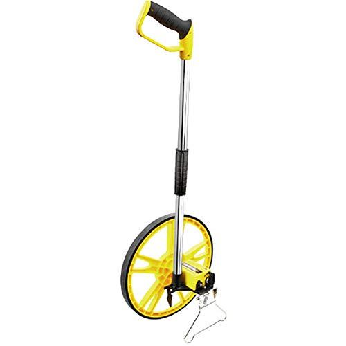 Abstandsmessrad, zusammenklappbares Messrad mit 5 m Stahlmaßband und tragbarem Handwerksmesser für Bauarbeiter Großflächenmessung