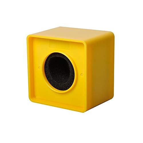 38 mm Loch TV Crew Interview Mikrofon quadratisch Cube Form Logo Fahne Station ABS Material Gelb
