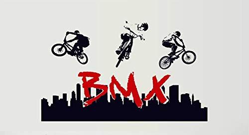 Deco-Designs Wandtattoo BMX Fahrrad Junge Wandsticker Aufkleber BMX DDS 404 bunt Sport Action Freestyle