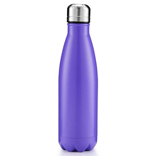 LITAO_bwbz Einfarbiger Vakuum-Edelstahl-Wasserflaschen-Becherkessel, lila