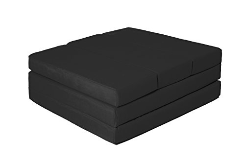 """ZOLLNER® Cómodo colchón plegable / cama para invitados / colchón supletorio / colchoneta plegable, 65x220 cm, negro, en varios colores, del especislista textil para hostelería, serie """"Soma"""""""
