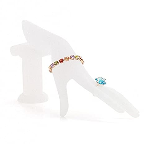 Schaufensterpuppe Hand Finger Handschuh Ring Display Halter Armband Armreif Schmuck Ständer Halter, ideal für Display Halsketten, Armbänder, Ringe (C-27*10cm, Weiß)