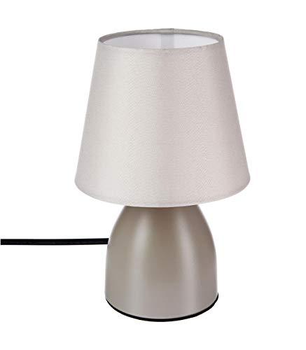Lampe de chevet déco 19cm - Couleur taupe